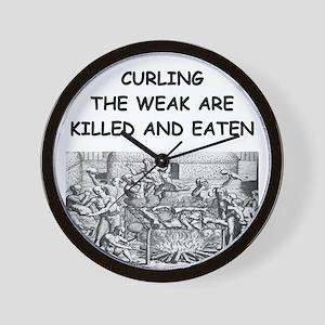 CURLING3 Wall Clock