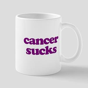 Cancer Sucks Purple Awareness Mugs