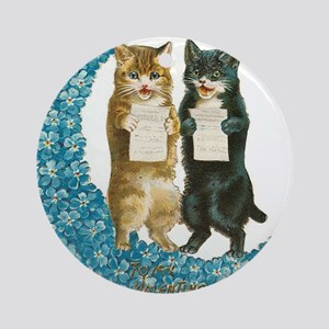 funny singing cats Ornament (Round)