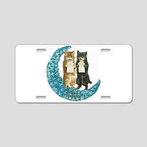 funny singing cats Aluminum License Plate