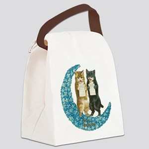 funny singing cats Canvas Lunch Bag