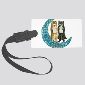 funny singing cats Luggage Tag