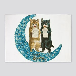 funny singing cats 5'x7'Area Rug