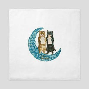 funny singing cats Queen Duvet