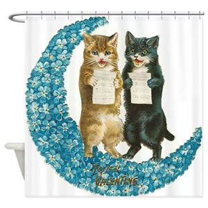 Cat Christmas Shower Curtains