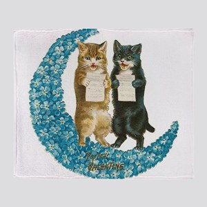 funny singing cats Throw Blanket