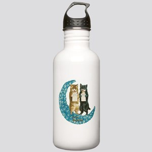 funny singing cats Water Bottle