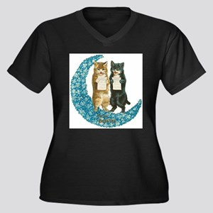 funny singing cats Plus Size T-Shirt