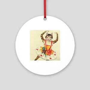 cat ballerina Ornament (Round)