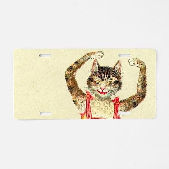 cat ballerina Aluminum License Plate