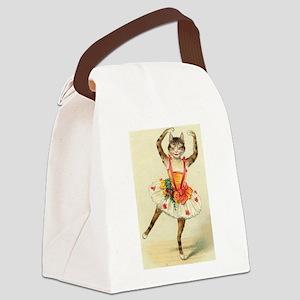 cat ballerina Canvas Lunch Bag
