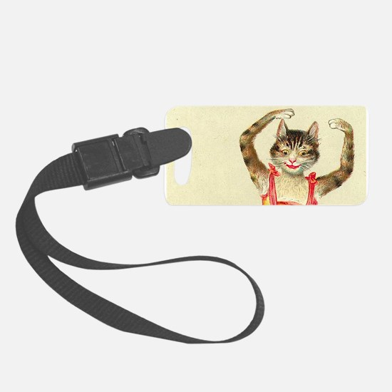 cat ballerina Luggage Tag