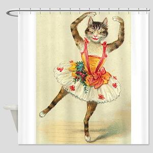 cat ballerina Shower Curtain