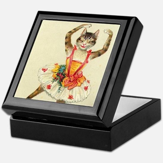 cat ballerina Keepsake Box
