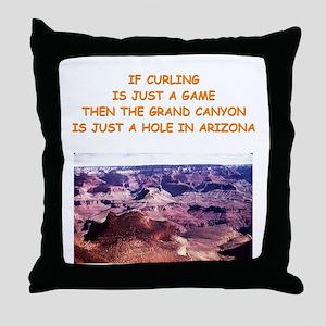 CURLING2 Throw Pillow