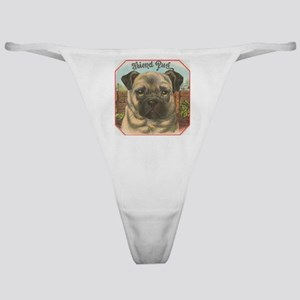 pug dog Classic Thong