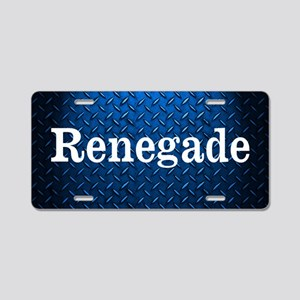Renegade Diamond Plate Aluminum License Plate