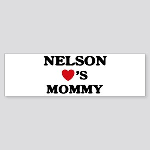 Nelson loves mommy Bumper Sticker