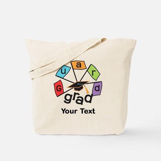 Customize Guard Grad Flags Tote Bag