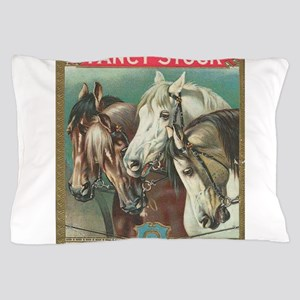 vintage horses Pillow Case