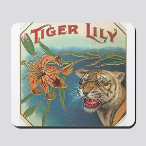 tiger lily Mousepad