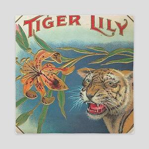 tiger lily Queen Duvet