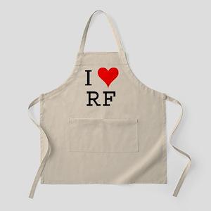 I Love RF BBQ Apron