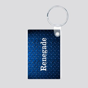 Renegade Diamond Plate Aluminum Photo Keychains