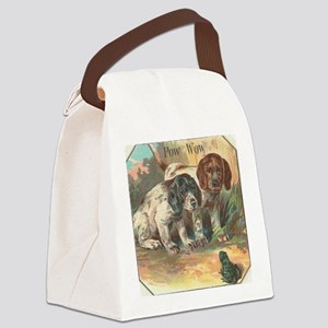 vintage funny dogs Canvas Lunch Bag