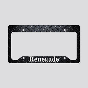 Renegade Diamond Plate License Plate Holder