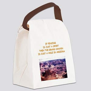 FENCING5 Canvas Lunch Bag