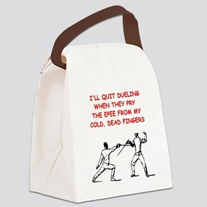 FENCING2 Canvas Lunch Bag