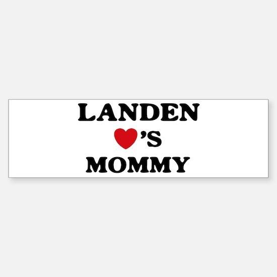 Landen loves mommy Bumper Bumper Bumper Sticker