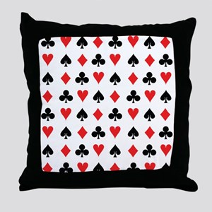 Card Suits Throw Pillow