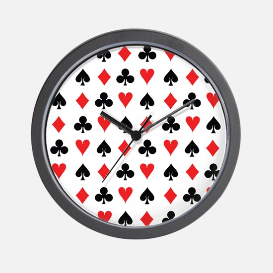 Card Suits Wall Clock