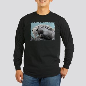 Possom Family on a Log Long Sleeve T-Shirt