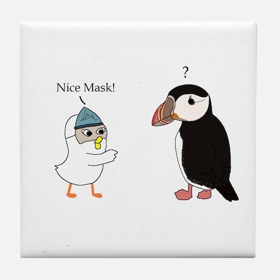 What Mask? Tile Coaster