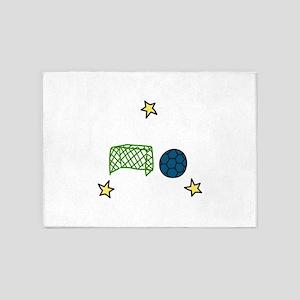 Soccer Sport 5'x7'Area Rug