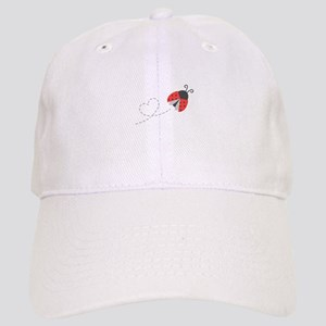 Cute Flying Ladybug, Heart Trail Baseball Cap