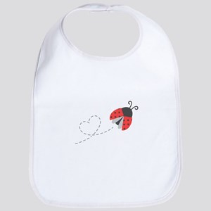 Cute Flying Ladybug, Heart Trail Bib