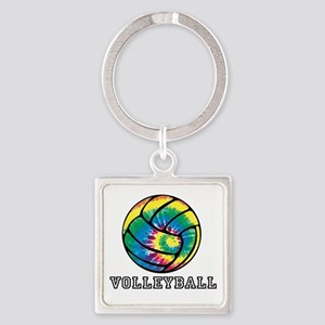 Tie Dyed Volleyball Keychains
