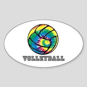 Tie Dyed Volleyball Sticker