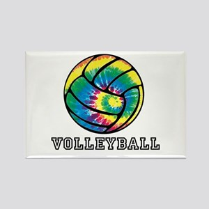 Tie Dyed Volleyball Magnets