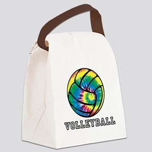 Tie Dyed Volleyball Canvas Lunch Bag