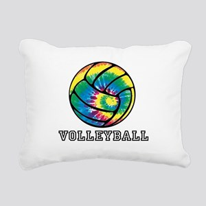 Tie Dyed Volleyball Rectangular Canvas Pillow