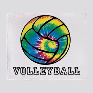 Tie Dyed Volleyball Throw Blanket