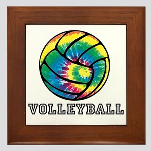 Tie Dyed Volleyball Framed Tile