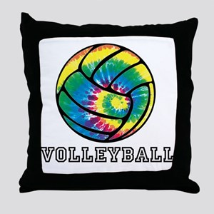 Tie Dyed Volleyball Throw Pillow