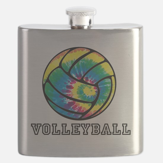 Tie Dyed Volleyball Flask
