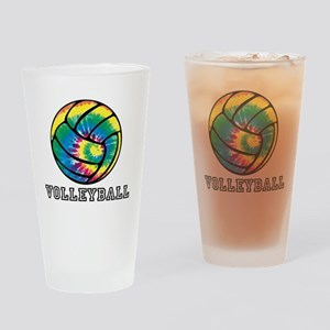 Tie Dyed Volleyball Drinking Glass